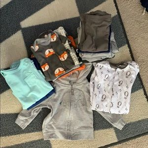 Variety of 0-3 month clothing